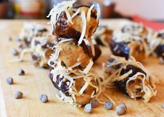 Almond Butter Stuffed Dried Dates