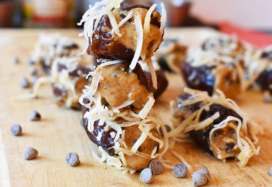 Almond Butter Stuffed Dried Dates
