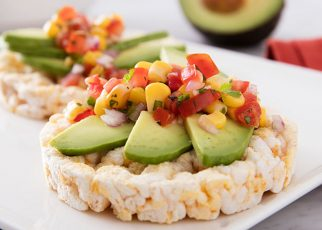 rice cakes and avocado snacks