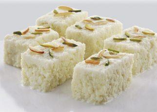 Vegan Malai Barfi Milk Cake