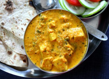 Vegan Methi Malai Paneer Tofu