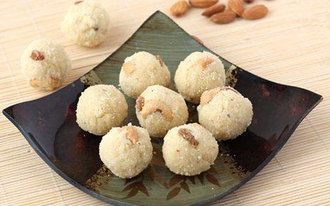 Vegan Kaju Rava Laddu
