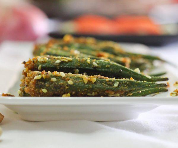 Indian Spiced Stuffed Okra
