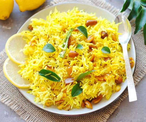 Lemon Rice With Brown Rice