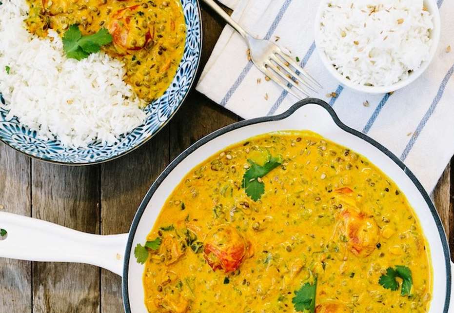 Vegan Creamy Cashew And Coconut Lentil Curry