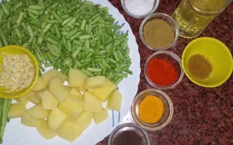 Punjabi Aloo Beans Recipe