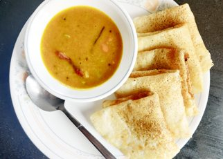 Vegan Dosa and Sambhar