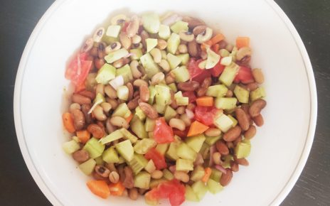 Vegan chick pea and kidney beans salad